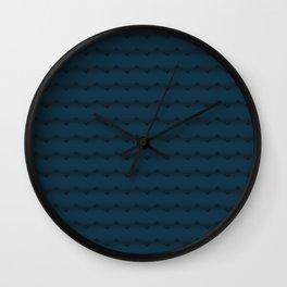 Blue pattern lines Wall Clock