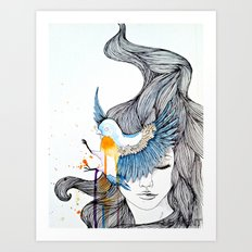Bird Eye Art Print