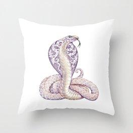 Cobra Snake Tattoo Throw Pillow