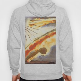 Abstract Wheat Landscape Hoody