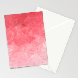 Red Watercolor Stationery Cards