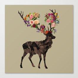 Spring Itself Deer Flower Floral Tshirt Floral Print Gift Canvas Print