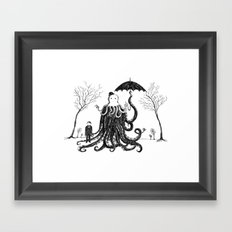 Young Master Lovecraft Finds A Friend Framed Art Print