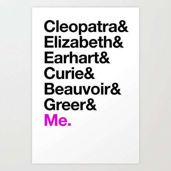 A Short List of Notable Ladies Art Print