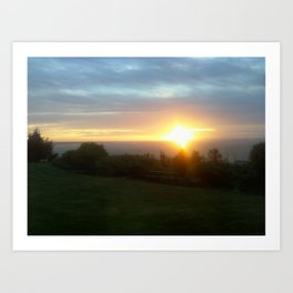 Oregon Sunset Art Print