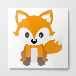 Sly Fox Metal Print