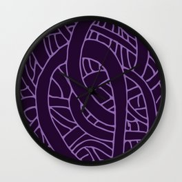 Microcosm in Purple Wall Clock