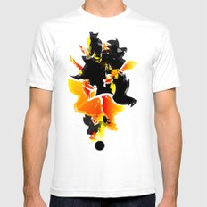 Illustration Mens Fitted Tee White SMALL