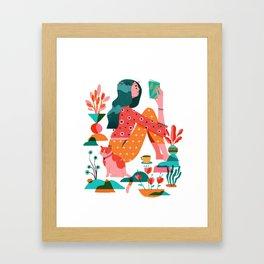 Garden Lady 2 Framed Art Print