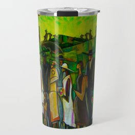 African American Masterpiece 'Funeral Procession' by Ellis Wilson Travel Mug