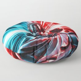 Techno Buddha Floor Pillow
