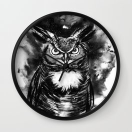 Spirit animal Owl Wall Clock