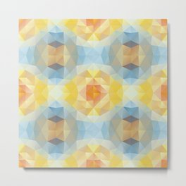 Kaleidoscopic design in soft colors Metal Print