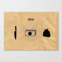 dexter Canvas Prints featuring DEXTER by Anthony Morell