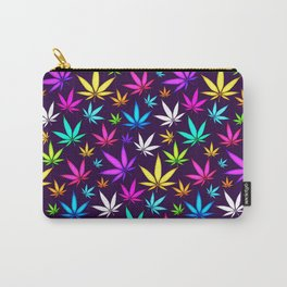 Colorful OG _\|/_ Herb Pattern Carry-All Pouch