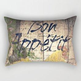 Rustic Chicken Cheese Bread Cafe Bistro Art Still Life A301 Rectangular Pillow