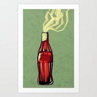 yetiland Art Prints featuring Genie out the bottle by Yetiland