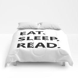Eat. Sleep. Read Comforters