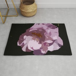 Beautiful Abstract Rose Rug