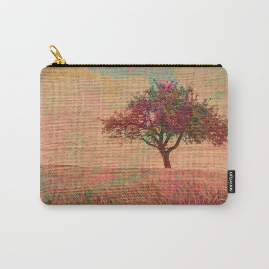 The Kissing Tree, Landscape Art Photo Collage Carry-All Pouch