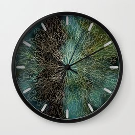 Forest Mandala Wall Clock