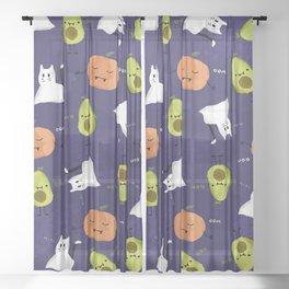 Cute Halloween Sheer Curtain