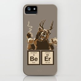 Funny chemistry bear discovered beer iPhone Case