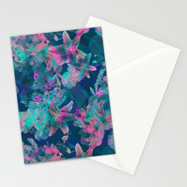 Geometric Floral Stationery Cards