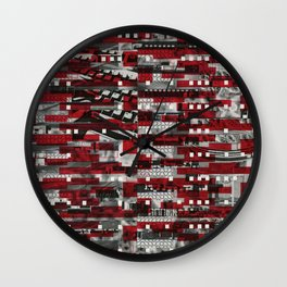 Nothing Is Accomplished (P/D3 Glitch Collage Studies) Wall Clock