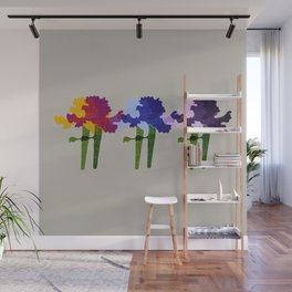 colorful iris screen print design Wall Mural
