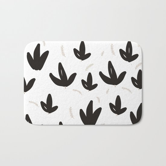 Black & White Nature Bath Mat