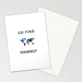 Go find yourself Stationery Cards