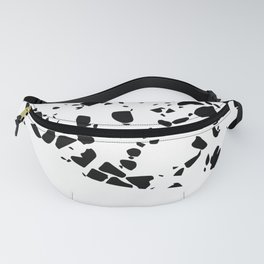 Terrazzo Texture Black and White #8 Fanny Pack