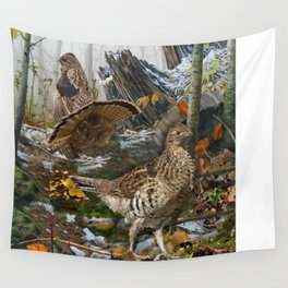 Ruffed Grouse Wall Tapestry