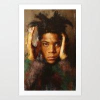 basquiat Art Prints featuring Basquiat by 炎リュウ