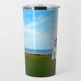 Tiny Lighthouse and Giant Bridge Travel Mug