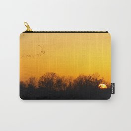 Sunset and cranes natural landscape from France Carry-All Pouch