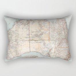 Australian Topography Map (1911) Rectangular Pillow
