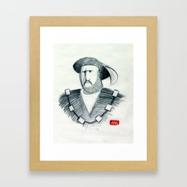 Henry & His Wives (drawing) Framed Art Print