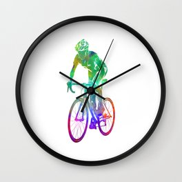 Woman triathlon cycling 05 Wall Clock