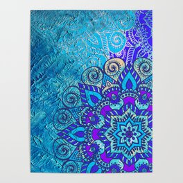 V13 Colored Floral Abstract ART Painting Poster