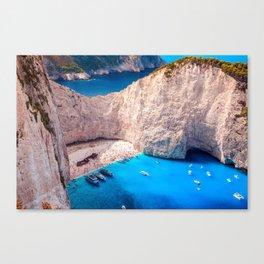 Shipwreck bay Canvas Print
