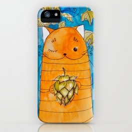 cat with hop iPhone Case