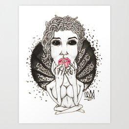 Medusing Sedusa Art Print