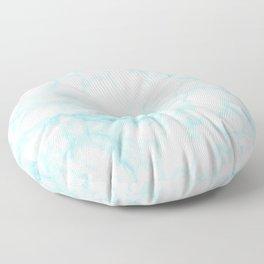 Elegant pastel blue white modern marble Floor Pillow