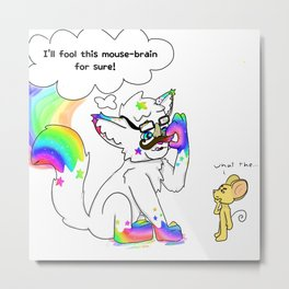 RainbowPawz Incognito Metal Print