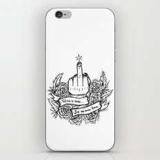 Tell Me to Smile - black and white iPhone Skin