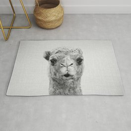 Camel - Black & White Rug