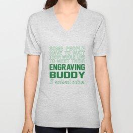 Engraving Buddy Unisex V-Neck