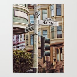 Sign, Haight-Ashbury Poster